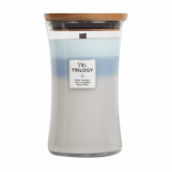 Woven Comforts WoodWick Trilogy Candle 22 oz.