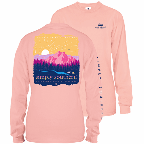 X-Large Adventure More Rose Long Sleeve Tee by Simply Southern