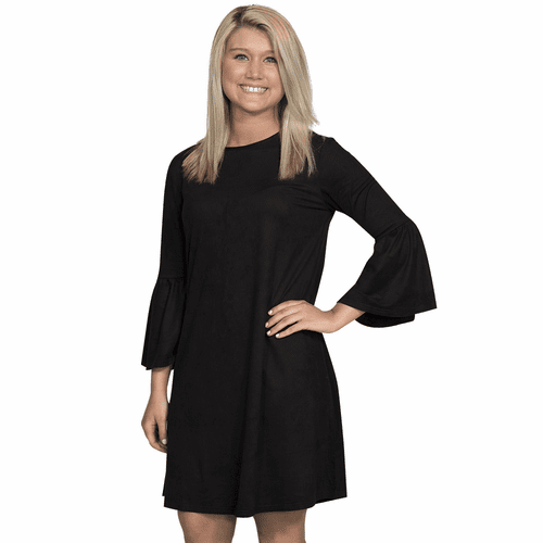 X-Large Black Charlotte Long Sleeve Tunic by Simply Southern