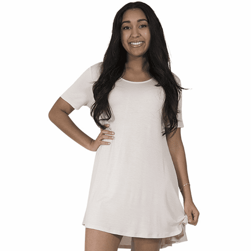 X-Large Sand Short Sleeve Tunic by Simply Southern