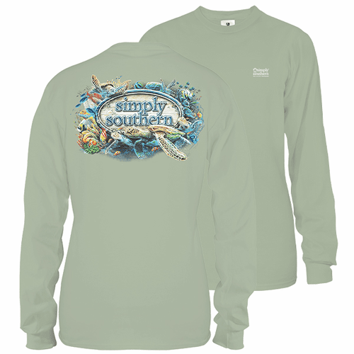 XX-Large Hazel Reef Life Unisex Long Sleeve Tee by Simply Southern