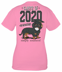 XXL Class of 2020 Flamingo Short Sleeve Tee by Simply Southern