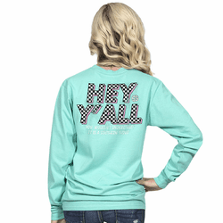 XXLarge Hey Y'all Aruba Long Sleeve Tee by Simply Southern