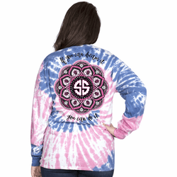 XXLarge If You Can Dream It Mandala Taffy Long Sleeve Tee by Simply Southern