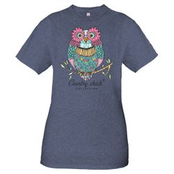 XXLarge Owl Denim Country Chick Short Sleeve Tee by Simply Southern