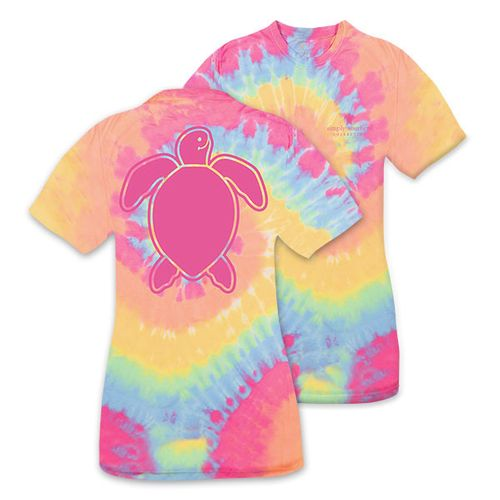 XXLarge Save the Turtles Logo Tiedye Short Sleeve Tee by Simply Southern