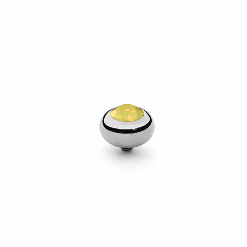 Yellow Opal 10mm Silver Interchangeable Top by Qudo Jewelry