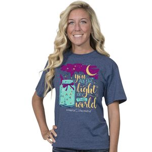 You are the Light Denim Simply Faithful Fitted Tee by Simply Southern