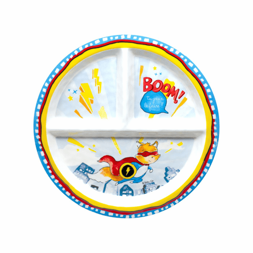 You Can Do It Sectioned Plate by Baby Cie