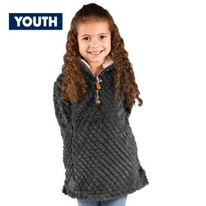 Youth Dark Gray Simply Fuzzy Pullover by Simply Southern