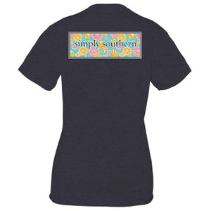 Zest Heather Navy Short Sleeve Tee by Simply Southern