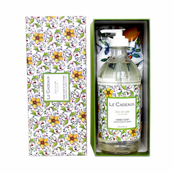 Zest of Lime Scented Liquid Hand Wash 16 oz. Bottle & Tea Towel Gift Set by Le Cadeaux