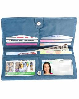 Executive Checkbook Bi-Fold Wallet with zippered pocket