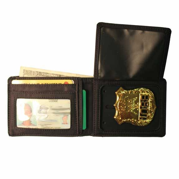 Leather Badge Bifold Wallet