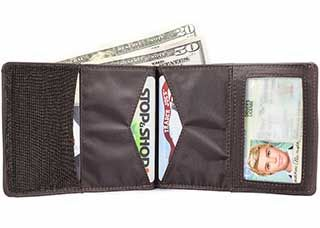 Leather Hybrid Super Stretch [Skinny] Bi-Fold Wallet