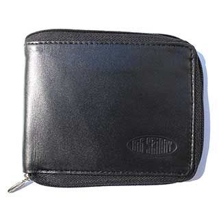Leather Zipfold Wallet