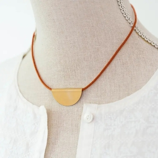 Modern Leather Necklace