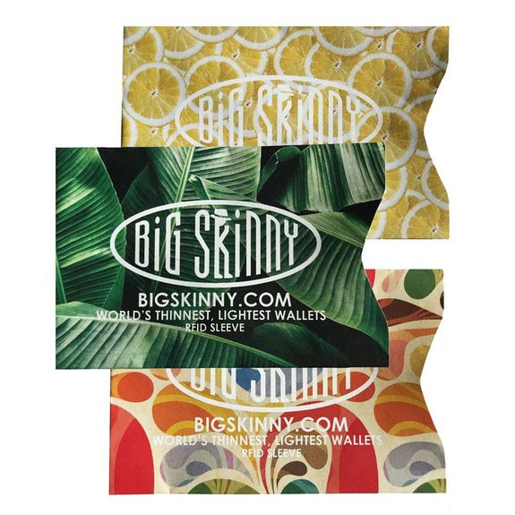 RFID Tropics Collection Credit Card Sleeves [pack of 3]