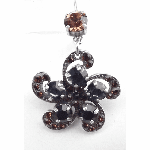 "Crystal ""Flower"" Earrings 1236-1321"