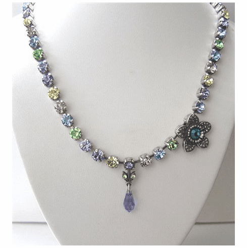 Crystal Necklace with Flower 3047-88