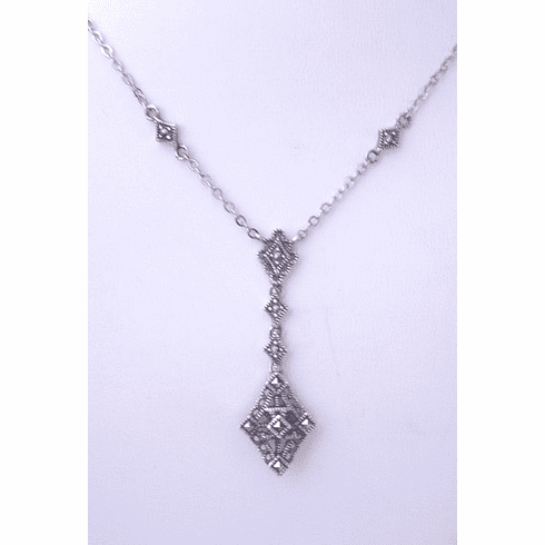 Marcasite and Sterling Necklace