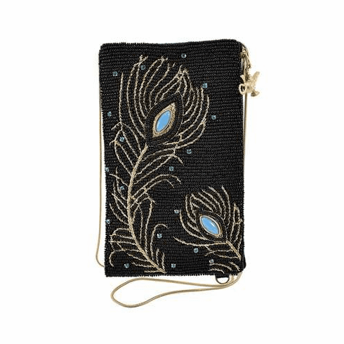 Mary Frances Disney Collection Shimmering Feathers Crossbody Phone Bag