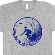 Alien Surfing T Shirt