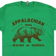 Appalachian Trail Shirt Great Smoky Mountains Tee Hiking Camping Shirts Shenandoah National Park