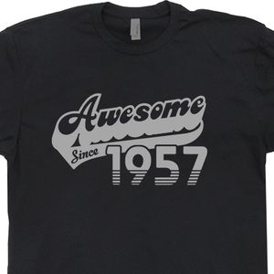 Awesome Since 1957 T Shirts Born In Made 60th Birthday Tee