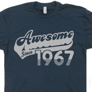 Awesome Since 1967 T Shirts Born In 1967 Made 50th Birthday Tee Shirt