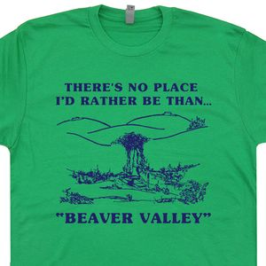Beaver Valley T Shirt Offensive Graphic Tee