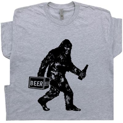 Bigfoot Drinking Beer