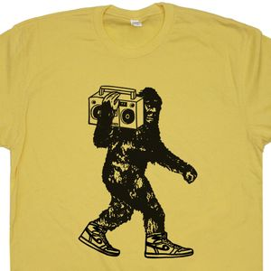 Bigfoot Holding Stereo T Shirt