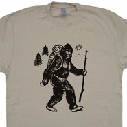 Bigfoot Hiking T Shirt