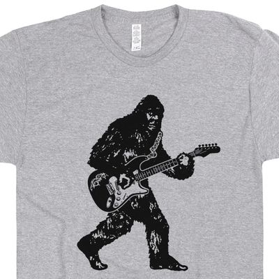 Bigfoot Guitar T Shirt Sasquatch Guitar Shirts Vintage Fender Guitar Shirts