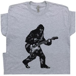 Bigfoot Playing Guitar T Shirt