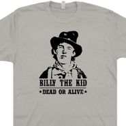 Billy The Kid T Shirt Outlaw Country Shirt Billy The Kid Wanted Poster Graphic