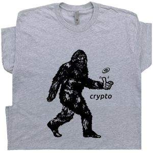 Bitcoin Bigfoot T Shirt Cryptocurrency Tee