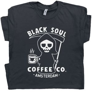Black Soul Coffee T Shirt Amsterdam