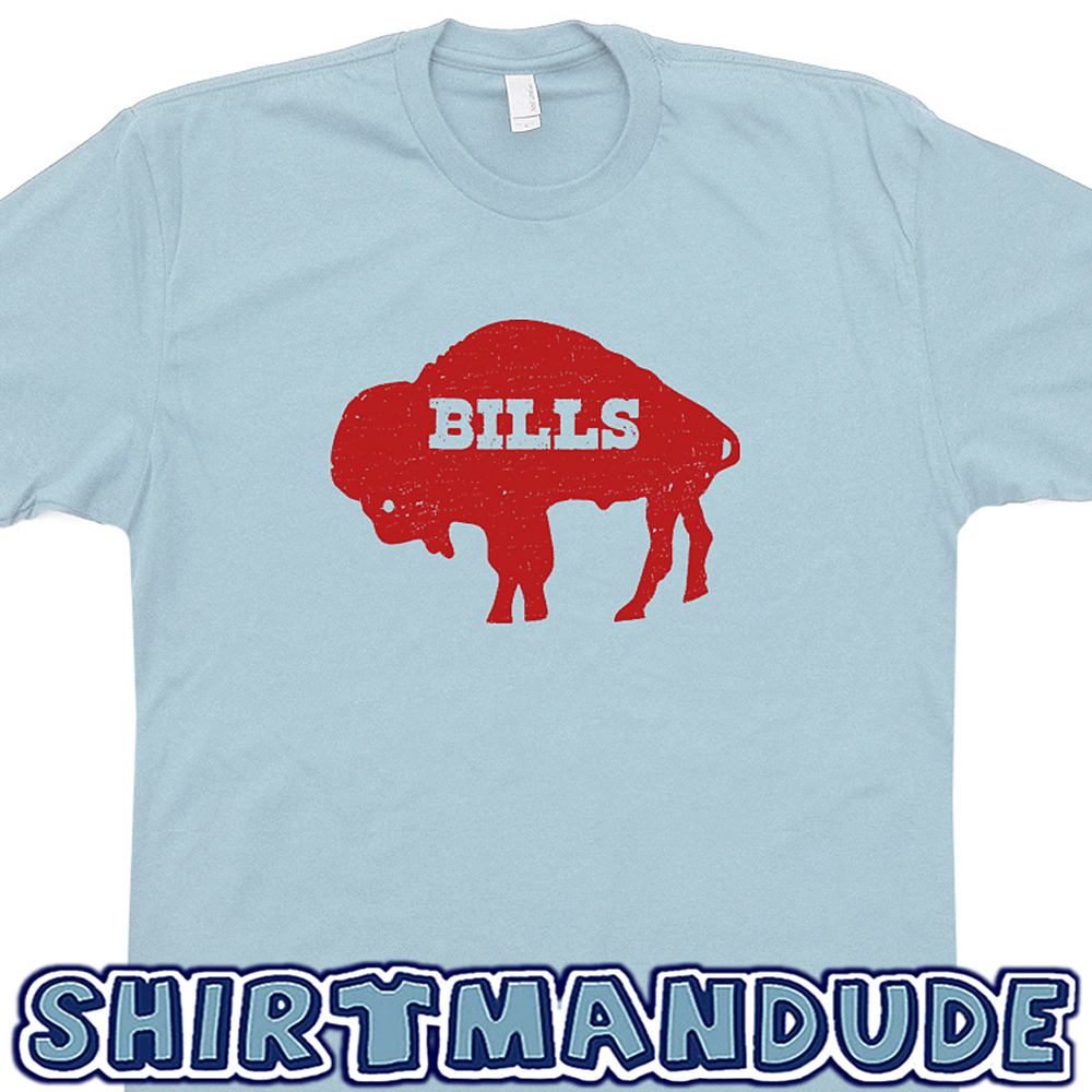 0e7c8498d Buffalo Bills T Shirt Vintage Buffalo Bills Logo T Shirt Retro Throwback