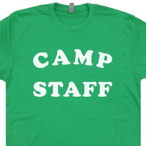 Camp Staff Shirt Vintage Camping T Shirt Funny Band Camp Summer Camp Crystal Lake