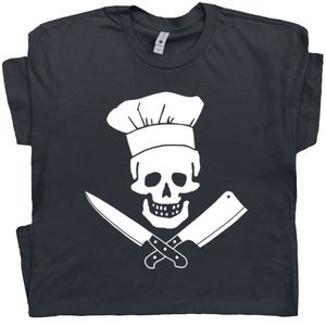 Chef T Shirt Skull and Knives Tee