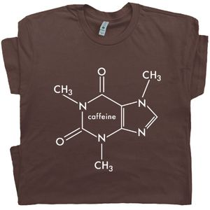 Coffee Molecule T Shirt Funny Coffee Tee