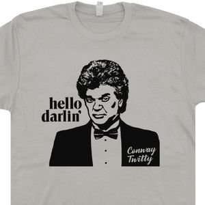 Conway Twitty T Shirt Vintage Country Music Tee Hello Darling