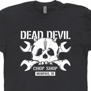 Dead Devil Motorcycle Shirt Custom Cycles Shirt Indian Motorcycle Chop Shop Vintage Biker Skull