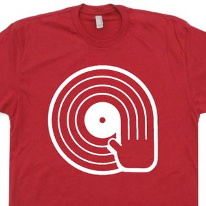 DJ T Shirt Spinning Record