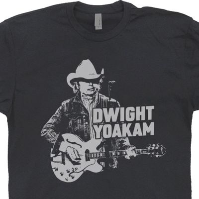 Dwight Yoakam T Shirt Vintage Country Music T Shirts Graphic Band Tee