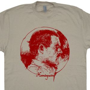 Ernest Hemingway T Shirt Vintage Literature Shirts Cool Book T Shirts