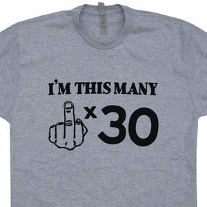 30th Birthday T Shirt Middle Finger
