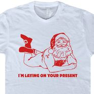 Naked Santa Clause T Shirt Funny Christmas T Shirt Naughty Christmas